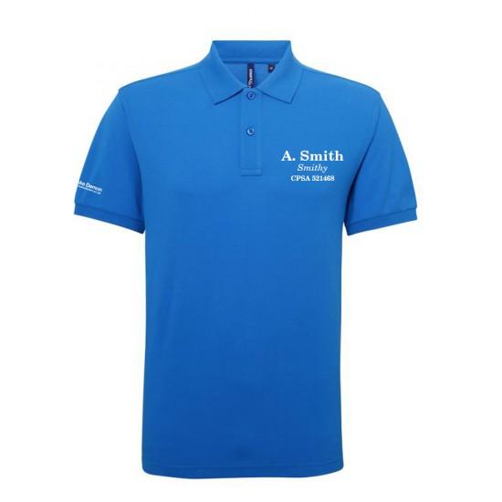 Mens Athletic Performance Polo Shirt name, nickname & association number and optional FITASC line